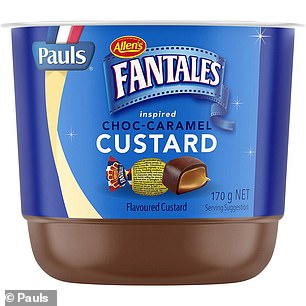 The new Pauls Dairy choc-caramel custard custard has an extra creamy texture and closely replicates the taste of Allen's Fantales